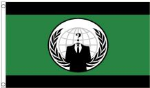 Anonymous Hacktivist Internet Activist Protest Group 5'x3' (150cm x 90cm) Flag
